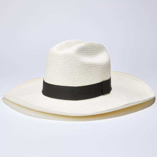Handwoven Long Brimmed Hat in Toquilla Straw