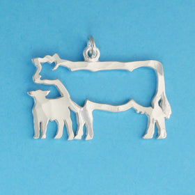 Cow And Calf Charm