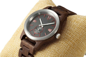 Handcrafted Walnut Wood Watch