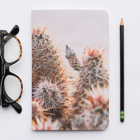 Stitched Notebook with Cactus Image