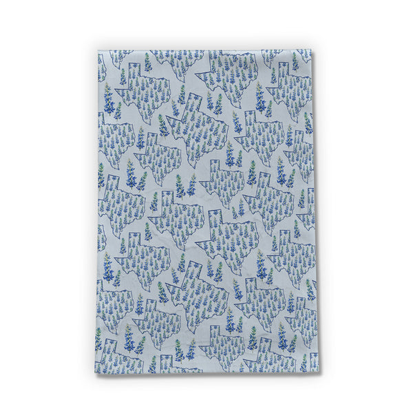 Texas Blue Bonnet Tea Towel