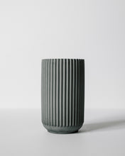 Load image into Gallery viewer, Tall Ridged Vase - Charcoal