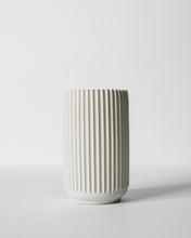 Load image into Gallery viewer, Tall Ridged Vase - Natural