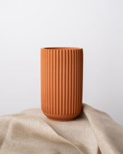 Load image into Gallery viewer, Tall Ridged Vase (4 colors)