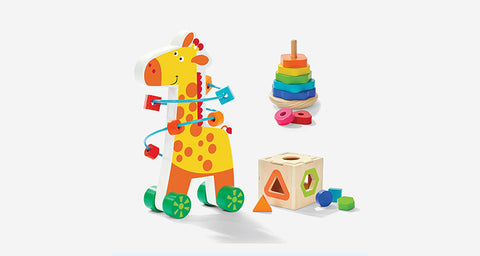 Colourful Giraffe Toy Trio