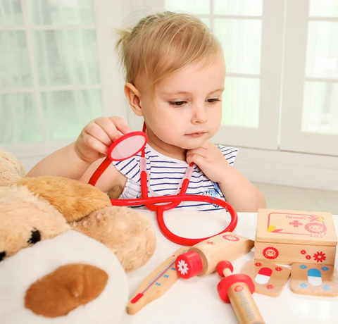 Imooore doctor wooden toy set