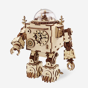 DIY Puzzle Kit Robot-shape Music Box Orpheus