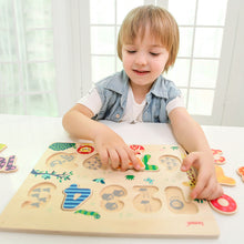 Load image into Gallery viewer, Montessori Wooden Number Puzzle