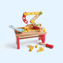 Load image into Gallery viewer, Wooden Colorful Tool Workbench
