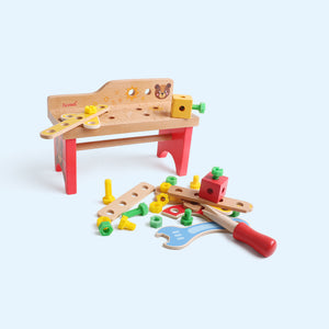 Wooden Colorful Tool Workbench