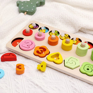 Early Learning Rainbow Logarithmic Board 6 in 1