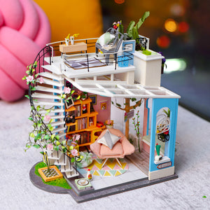 Wooden DIY Dollhouse Model Kits(Dora's Loft)