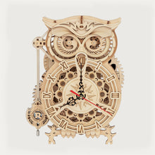 Load image into Gallery viewer, DIY Puzzle Kit&Home Décor Owl Clock