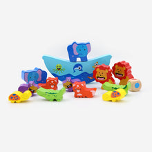 Load image into Gallery viewer, Montessori  Colorful Balance Animal Blocks Set