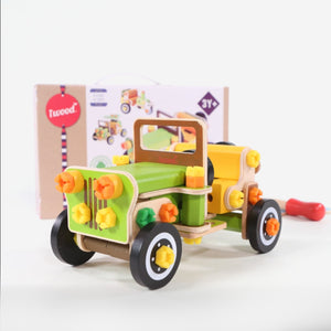 Wooden Building Toy Car - Jeep/ F1 Race car