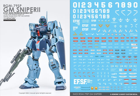 G-Rework [MG] RGM-79SP GM SNIPER2 Water Decal - Trinity Hobby