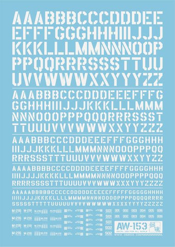 Madworks: Madworks AW-153 Waterslide Decal - Letters 02 (White) - Trinity Hobby