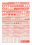 Madworks AW-155 Waterslide Decal - Letters 02 (Red)