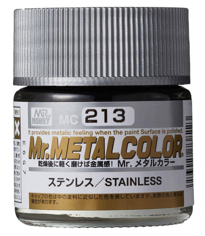 Mr Hobby: Mr Color Metal Color - Stainless - Trinity Hobby