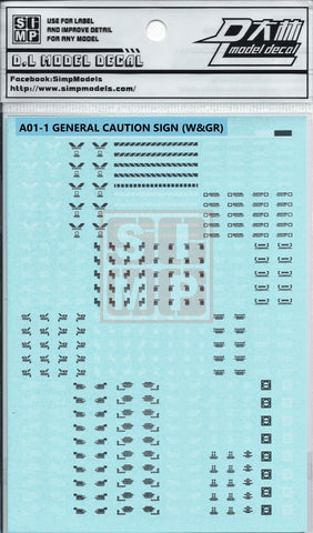 SIMP A01-1 General caution sign (White & Grey)