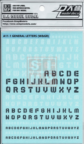 SIMP A11-1 General Letters(White & Grey)