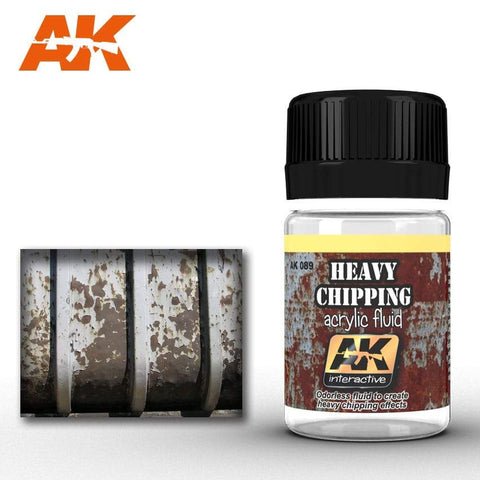 AK Interactive: AK Interactive Heavy Chipping Effects Acrylic Fluid - Trinity Hobby
