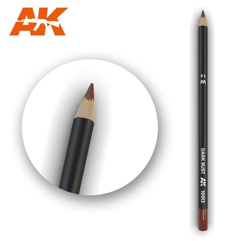 AK Interactive Watercolor Pencil Dark Rust - Trinity Hobby