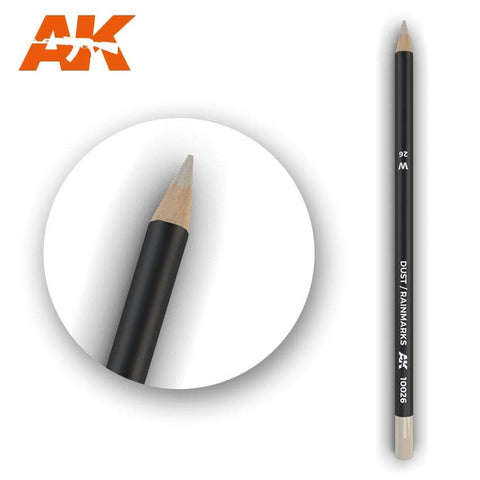 AK Interactive Watercolor Pencil Dust-Rainmarks - Trinity Hobby