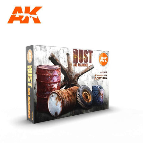 AK Interactive: AK Interactive Rust And Abandoned Set - Trinity Hobby