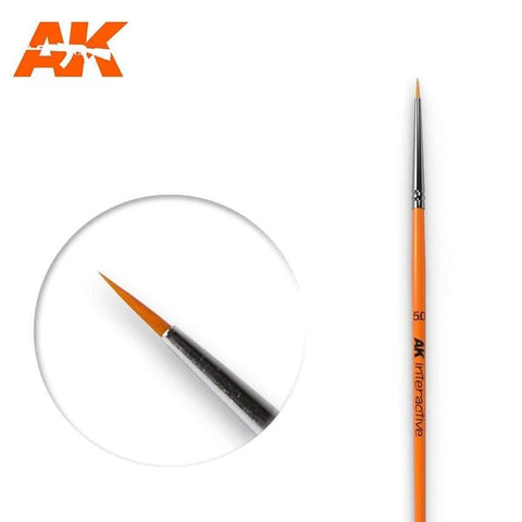 AK Interactive: AK Interactive Round Brush 5/0 Synthetic - Trinity Hobby