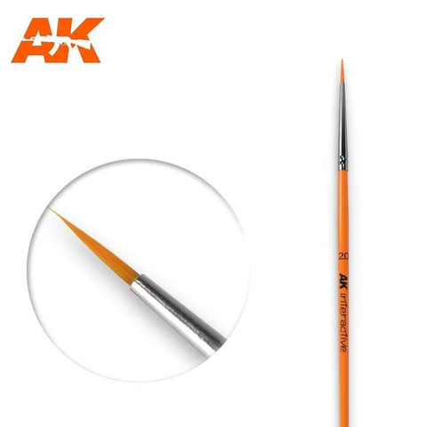 AK Interactive: AK Interactive Round Brush 2/0 Synthetic - Trinity Hobby