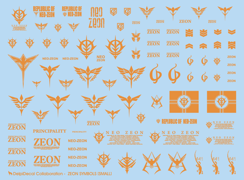 ETC Zeon Universal Gold Holo Small Water Decal - Trinity Hobby