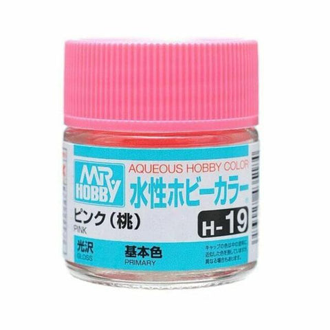 Mr Hobby: AQUEOUS HOBBY COLOR - H19 GLOSS PINK (PRIMARY) - Trinity Hobby