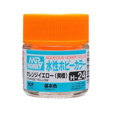 Mr. Hobby: AQUEOUS HOBBY COLOR - H24 GLOSS ORANGE YELLOW (PRIMARY) - Trinity Hobby