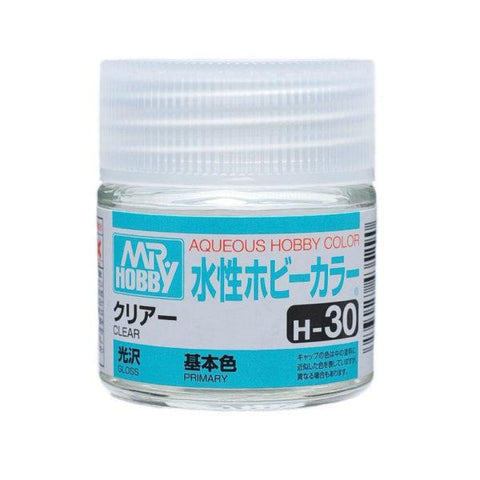 Mr. Hobby: AQUEOUS HOBBY COLOR - H30 GLOSS CLEAR (PRIMARY) - Trinity Hobby