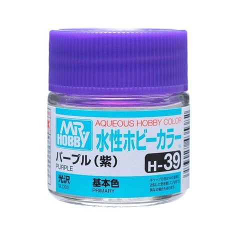 Mr. Hobby: AQUEOUS HOBBY COLOR - H39 GLOSS PURPLE (PRIMARY) - Trinity Hobby