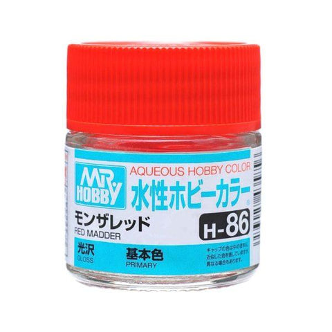 Mr. Hobby: AQUEOUS HOBBY COLOR - H86 GLOSS RED MADDER (PRIMARY) - Trinity Hobby