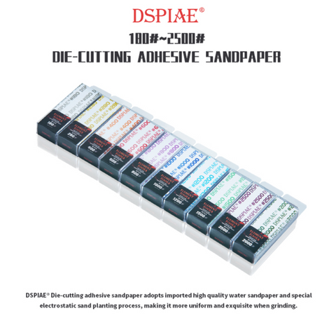 Dspiae: Dspiae Sandpaper W/ Adhesive Backing (30pc) - Trinity Hobby