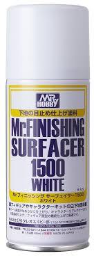 Mr Hobby: Mr Finishing Surfacer 1500 White (Aerosol Type) - Trinity Hobby