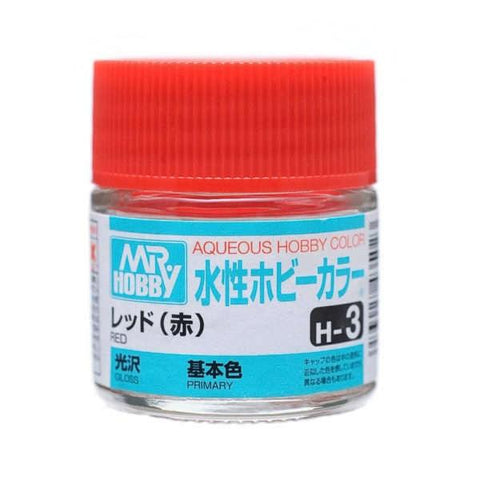 Mr. Hobby: AQUEOUS HOBBY COLOR - H3 GLOSS RED (PRIMARY) - Trinity Hobby