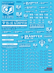 Delpi Decals: MG Kampfer Luminous Water Decal - Trinity Hobby