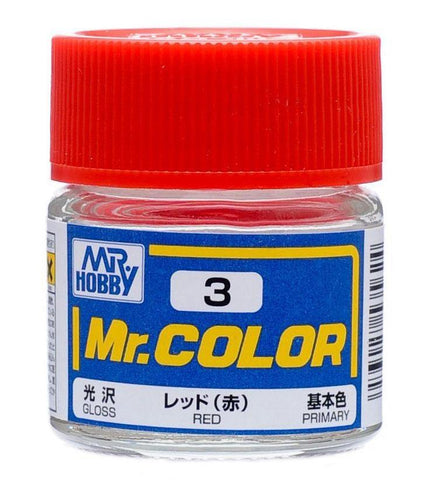 Mr Hobby: Mr. Color 3 - Red (Gloss/Primary) - Trinity Hobby