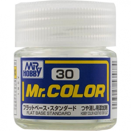 Mr Hobby: Mr. Color 30 - Flat Base (Flat/NA) - Trinity Hobby