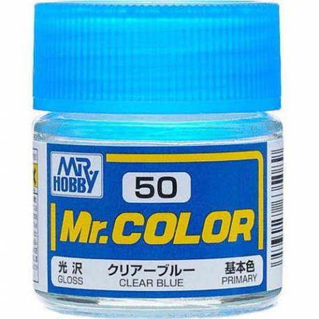 Mr Hobby: Mr. Color 50 - Clear Blue (Gloss/Primary) - Trinity Hobby