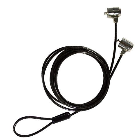 Candado de Seguridad c/Doble Cabezal y Llave p/Laptop & PC 4mm (Sobre Pedido) <br/>TZCKL05DB