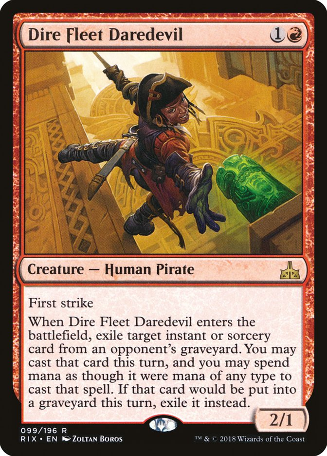 Dire Fleet Daredevil [Rivals of Ixalan] | Kobold's Keep