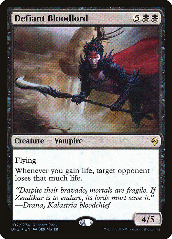 Defiant Bloodlord [Battle for Zendikar Promos] | Kobold's Keep
