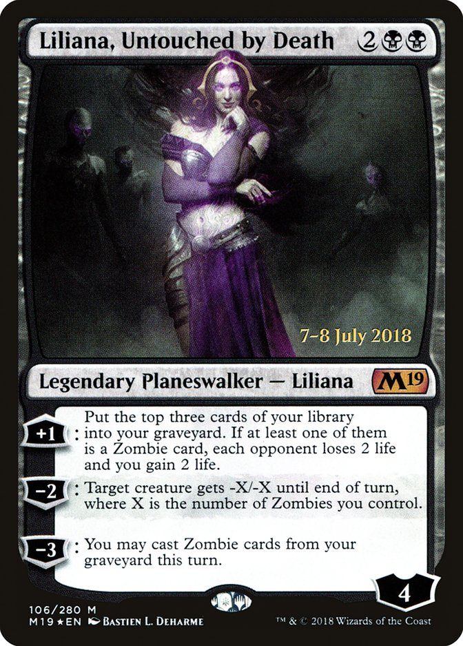 Liliana, Untouched by Death [Core Set 2019 Promos] | Kobold's Keep