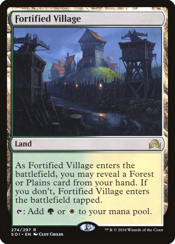 Fortified Village [Shadows over Innistrad] | Kobold's Keep