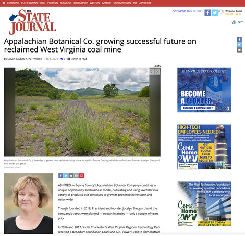 Appalachian Botanical in the WV State Journal